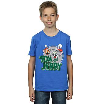 Tom And Jerry Boys Christmas Greetings T-Shirt
