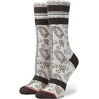 Stance Alan Crew Socks in Cream