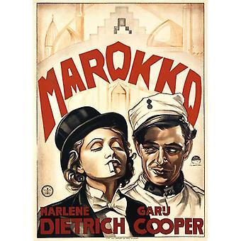 Marokko-Film-Poster (11 x 17)