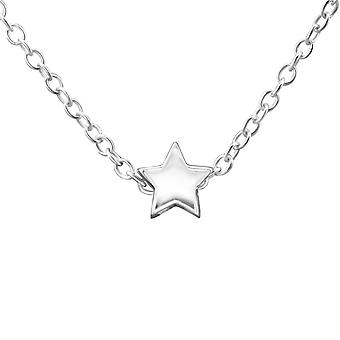 Star - 925 Sterling Silver Plain Necklaces - W29897x