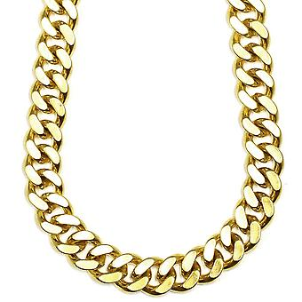 18K Gold Plated XL Miami Cuban Chain 18mm x 38 inches 500g FILLED