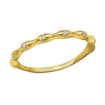 Empilable - en argent Sterling 925 empierré anneaux - W30378X