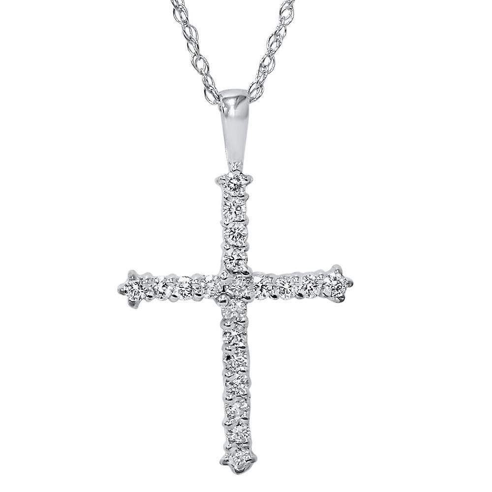 diamant kors halsband