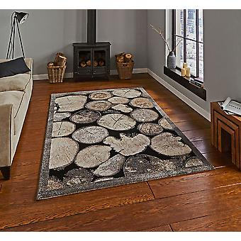 Woodland Think 4626 Cream Grey  Rectangle Rugs Modern Rugs
