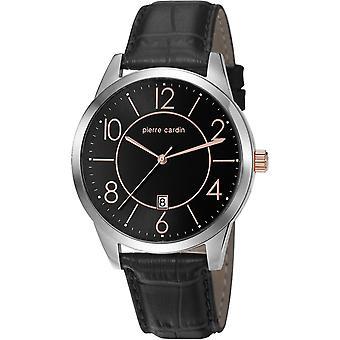 Pierre Cardin mens watch wristwatch leather PC106921F02