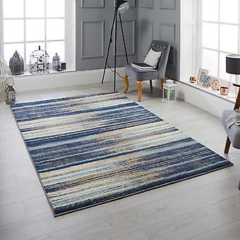 Sansa 82L Rectangle bleu tapis tapis modernes