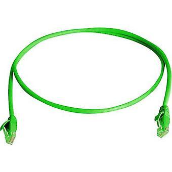 Telegärtner RJ45 Networks Cable CAT 5e U/UTP 2.00 m Green Flame-retardant, Halogen-free