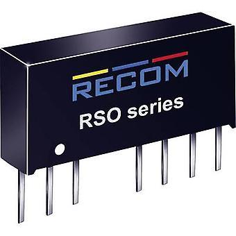 RECOM RSO-1212S DC/DC omvandlare (tryck) 12 V DC 12 V DC 83 mA 1 W No. av utgångar: 1 x