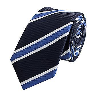 Knyta slips tie slips smal 6cm blå med vita ränder Fabio Farini