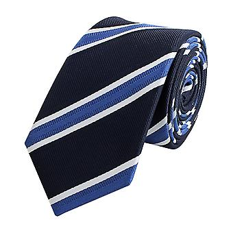 Tie tie tie tie narrow 6cm Blue with white stripes Fabio Farini