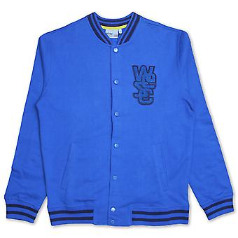 Wesc Warren Sweat Varsity Jacket Snorkel Blue