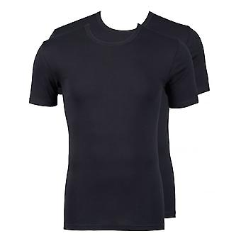 Jockey moderne klassische Rundhals T-Shirt 2er-Pack schwarz