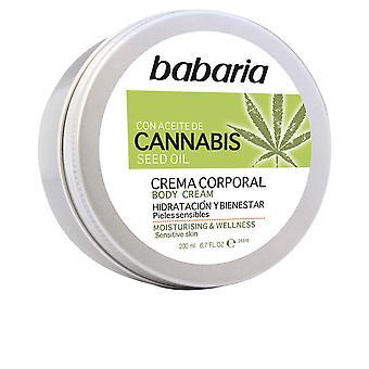 Babarie Cannabis Crema desátník Hidratante Y Bienestar 200 ml Unisex