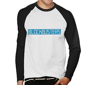 Retro-Blockbuster Logo Herren Baseball T-Shirt Langarm