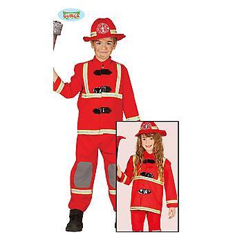 Fantasia de bombeiro para crianças unisex bombeiro bombeiro esposa carnaval lutador de fogo extintor de incêndio