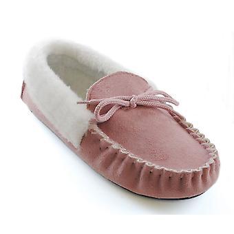 سلومبيرزز ميكروسويدي النسائي فو الفراء تقليم حذاء بدون كعب النعال