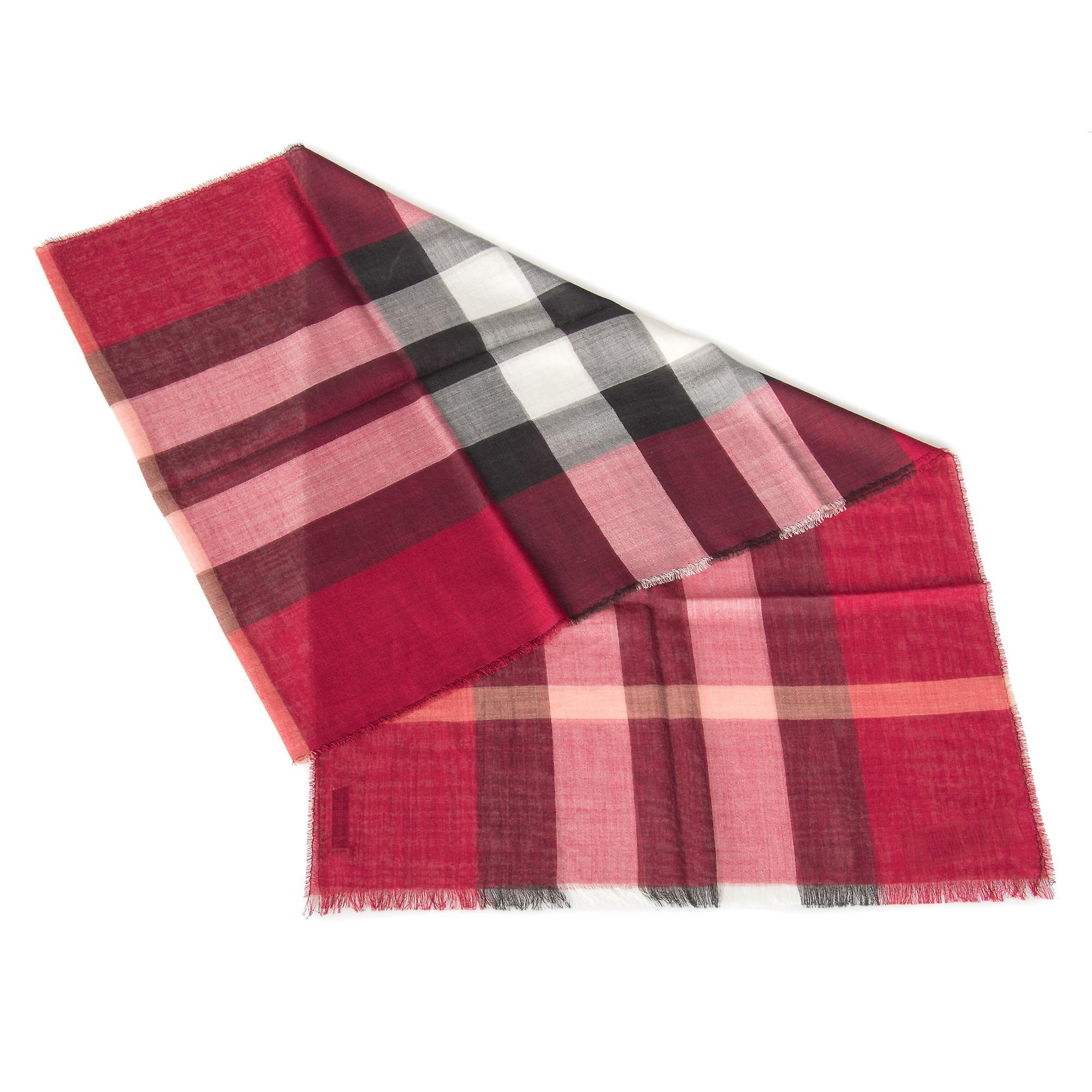 Burberry lett av ull og silkeskjerf | Crimson Red