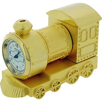 Gift Time Products Small Train Miniature Clock - Gold