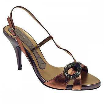 Magrit Sling Back Sandal With Diamonte Front