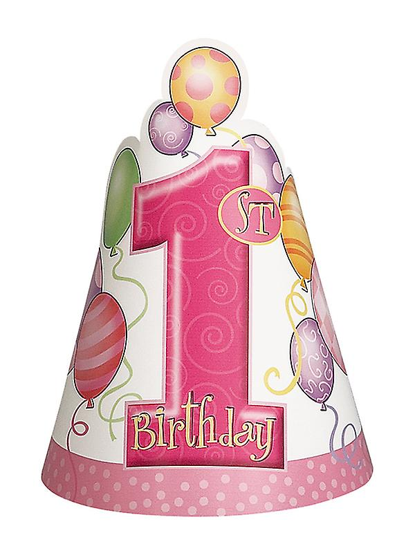 First Birthday Pink Party Hats