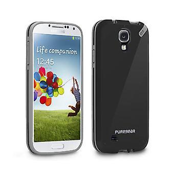 PureGear Slim Shell fall för Samsung Galaxy S4 (svart te)