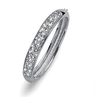 Oliver Weber Bangle Opera Rhodium Crystal