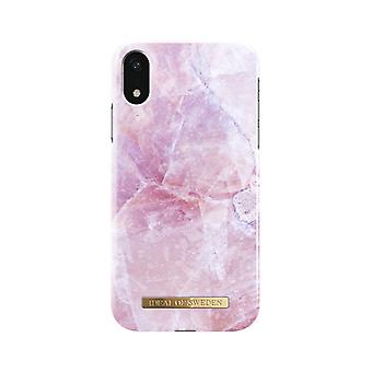 iDeal Of Sweden iPhone XR Marble Shell-Pilion Pink