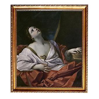 With Ram The Death of Cleopatra, Guido Reni, 61x51cm
