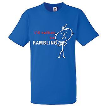 Miesten olisin melko sokkeloinen kuninkaallinen sininen t-paita