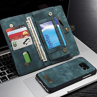 CASEME Samsung Galaxy S7 Edge Retro leather wallet Case-Blue