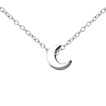 Crescent - 925 Sterling Silver Plain Necklaces - W17742x