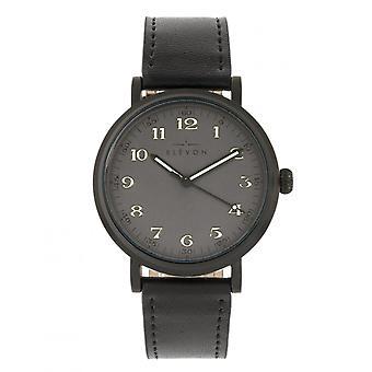 Elevon Felix Leather-Band Watch - Black