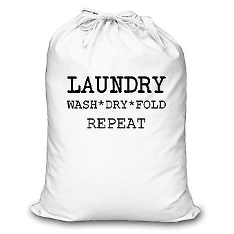 White Laundry Wash Dry Fold Repeat