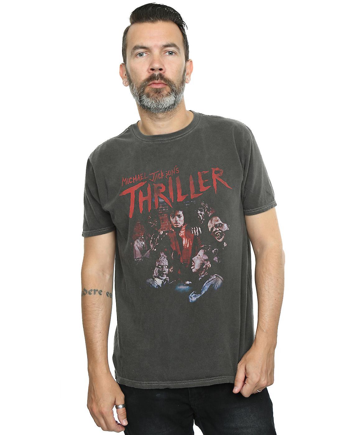 Michael Jackson Men's Thriller Ghouls Washed T-Shirt