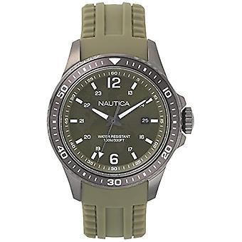 Nautica Analogueico Watch quartz men with Silicone strap NAPFRB003