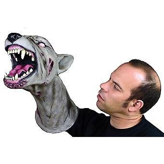 Zombie hond Arm Puppet masker voor volwassenen