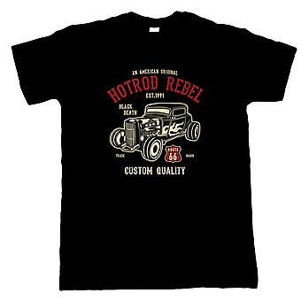 Hot Rod Rebel All American Classic Mens T Shirt - Birthday Fathers Day Gift Him
