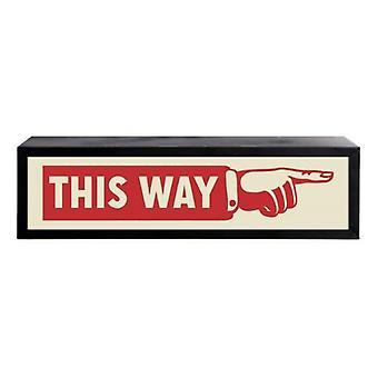 Dieser Weg Box leichte Uk leichte Wall Mounted Display Dekoration Zeichen