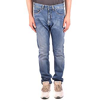 Neil Barrett Ezbc058057 Men's Blue Cotton Jeans