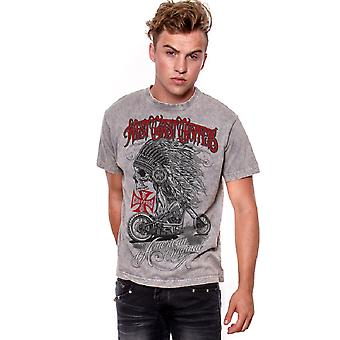 West Coast choppers mens T-Shirt-Chief grey