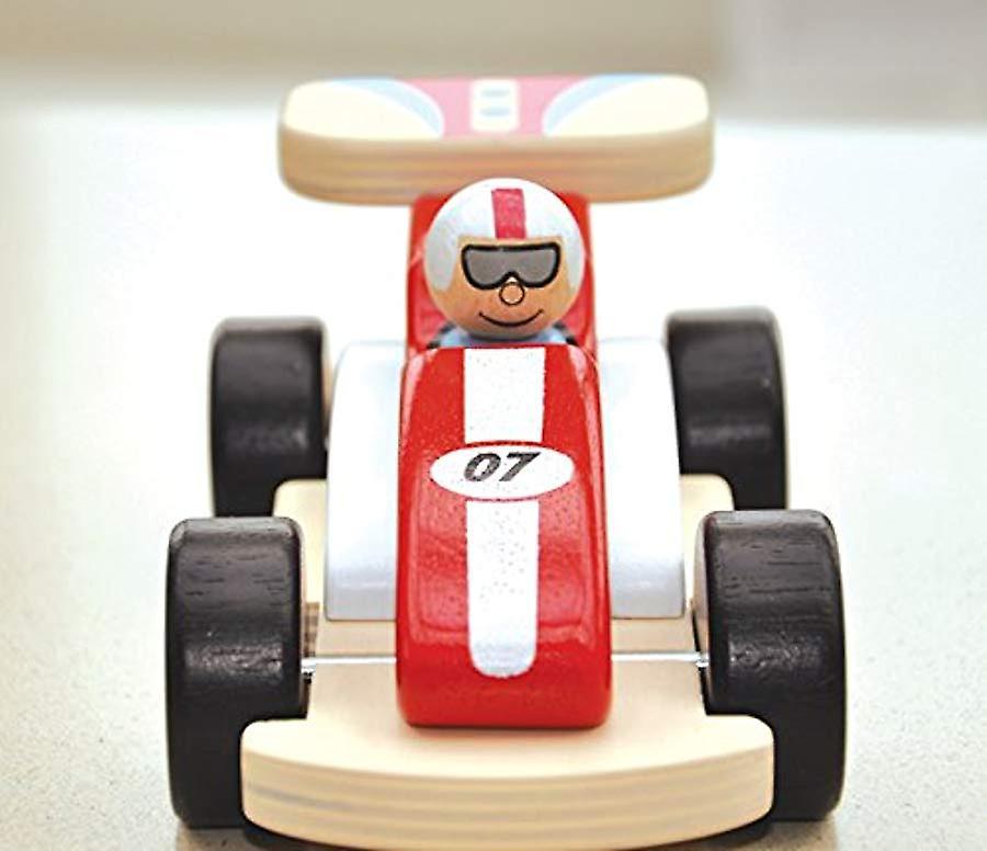 Indigo Jamm rotsachtige Racer houten speelgoed Racing auto - met verwisselbare chauffeur