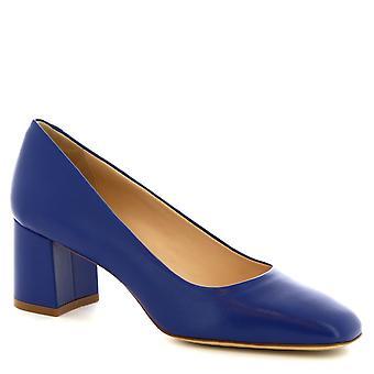 Leonardo Shoes Women's handmade classic pumps in cobalt blue calf leather