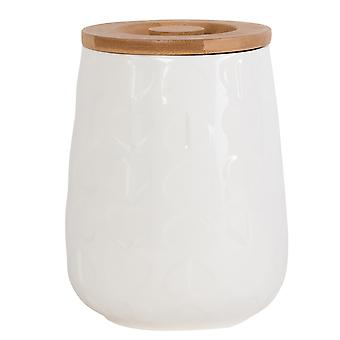 Beau & Elliot Embossed Medium Jar, White