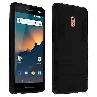 Nokia case 2,1 stødsikker beskyttelse bi-materiale funktion support-sort