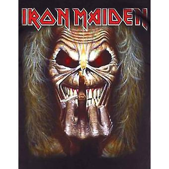Iron Maiden T skjorte Eddie Candle Finger albumet Band Logo offisielle Mens nye svart