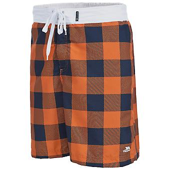 Trespass Mens Pacino Checkered Board Shorts