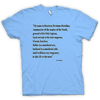 Kinder T-shirt - Gladiator - Zitat - Russell Crowe