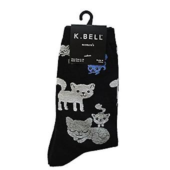 Damen Crew Socken - K Bell - Kitty Cats Black