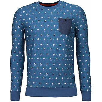 Flamingo-sweatshirt-light blue