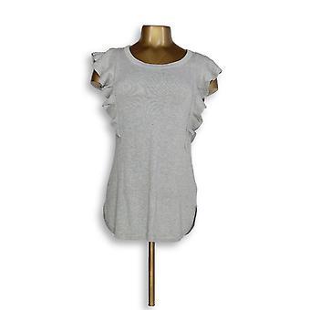 Isaac Mizrahi Live! Frauen's Pullover XXS Ärmellose ziehen über grau A308018